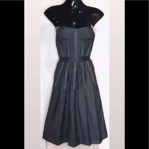 Strapless Bustier Corset Flare Dress